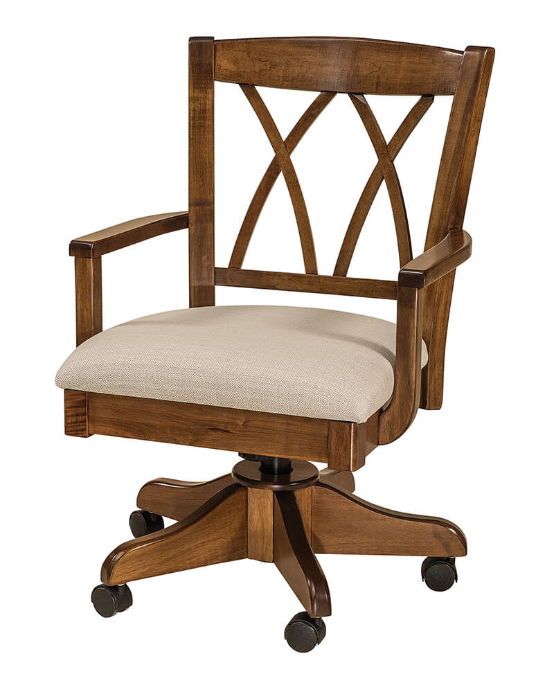 Alexis desk chair amish desk chairs deutsch furniture haus Morris home furniture hours