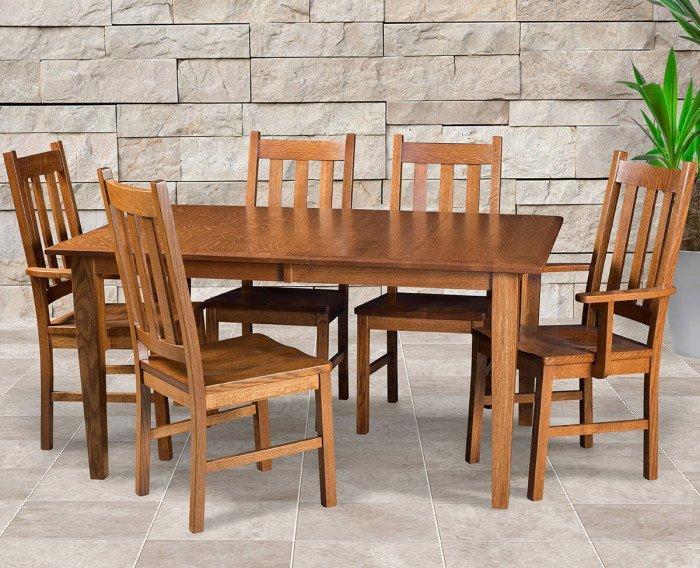 Amish Delano Mission Dining Set