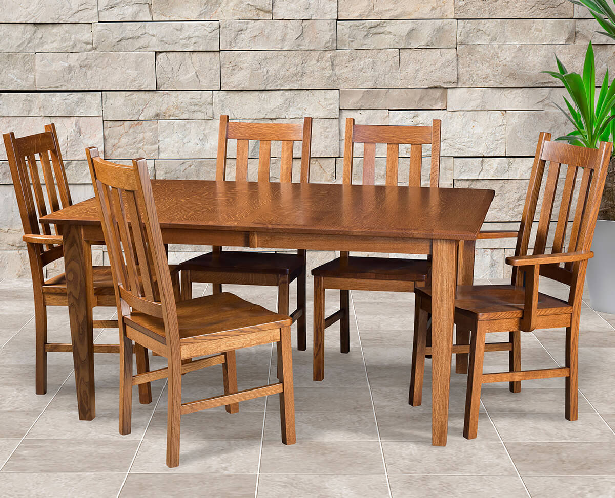 Amish Delano Mission Dining Set Dining Room Sets