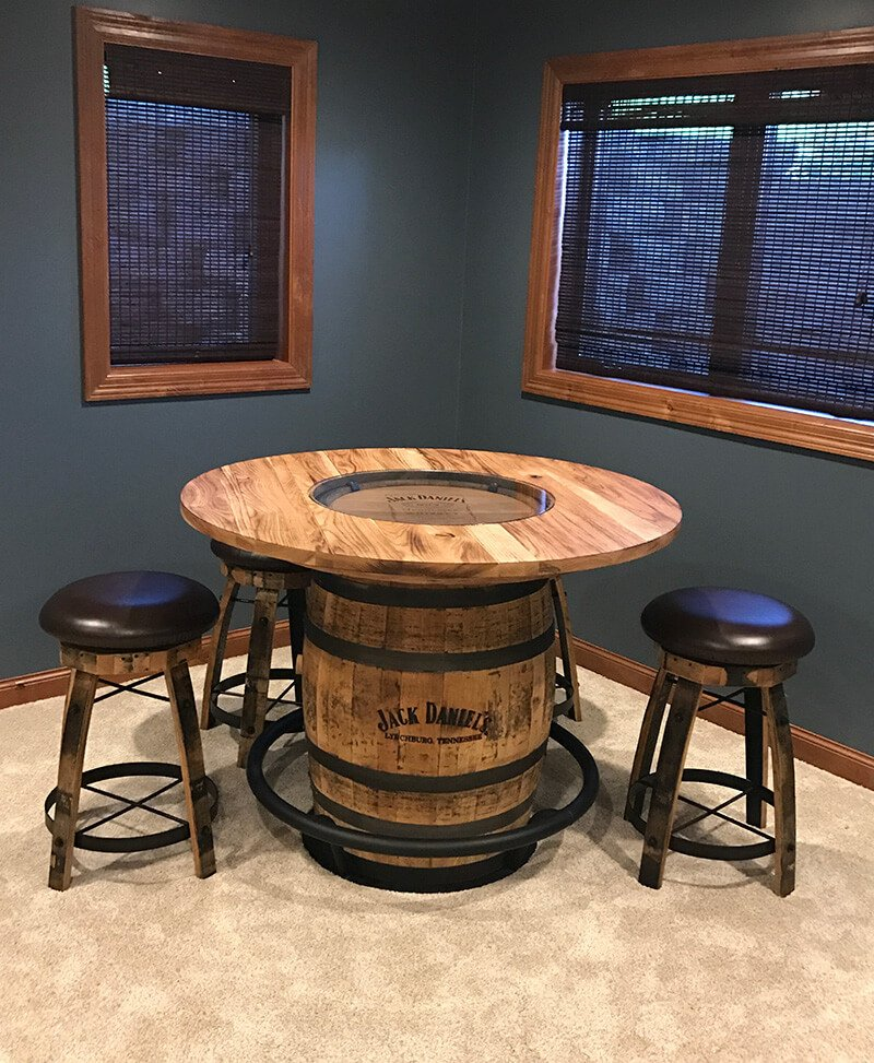 Jack Daniels Whiskey Barrel Pub Table Deutsch Furniture Haus