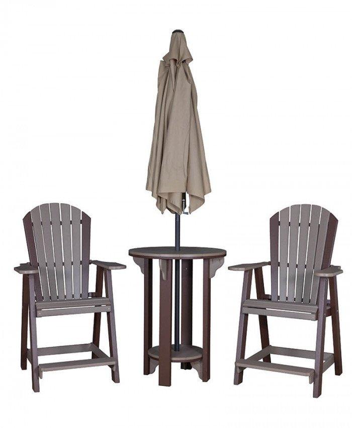 Round Pub Table w/2 Balcony Chairs