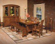 Amish Calabasas 8 Piece Dining Room Set