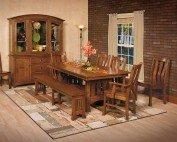 Amish Calabasas 8 Piece Dining Room Set