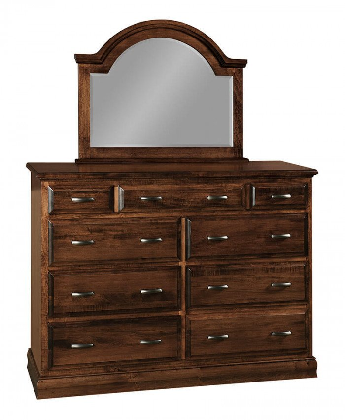 Amish Bellflower 9 Drawer Dresser