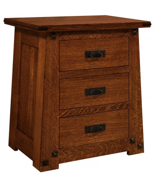 Encada 3 Drawer Nightstand