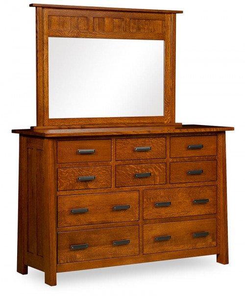 Freemont Mission 10 Drawer Dresser