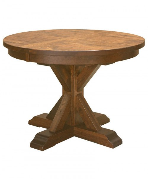 Amish Alberta Single Pedestal Table