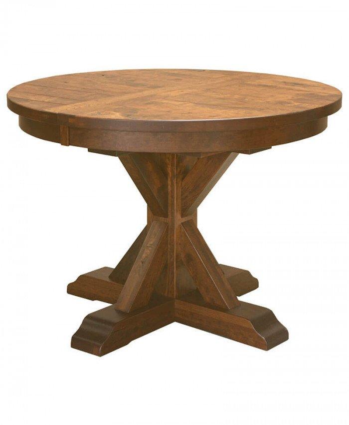 Amish Alberta Single Pedestal Table