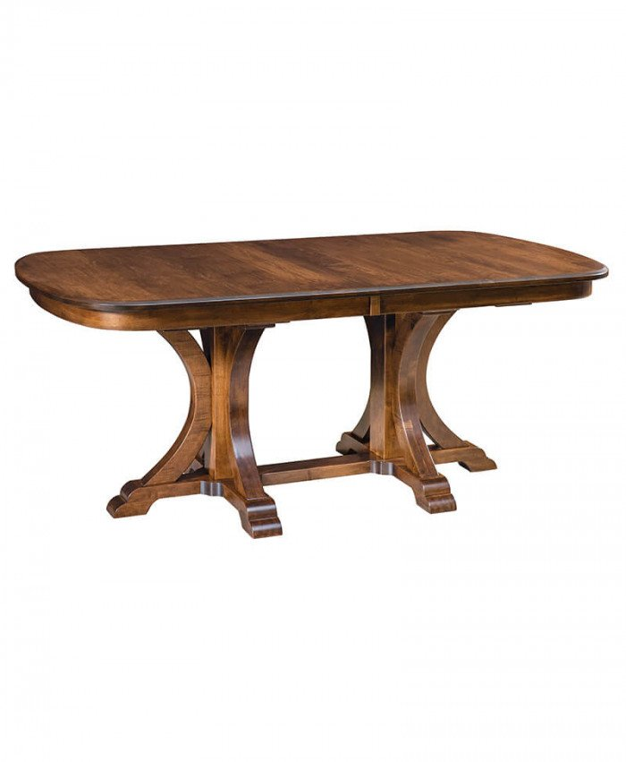 Amish Granite Double Pedestal Table