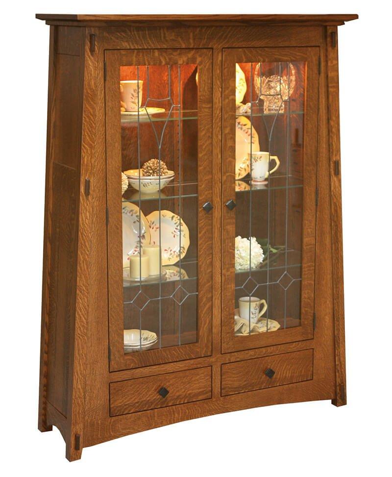 Amish Mccoy Curio Cabinet Deutsch Furniture Haus
