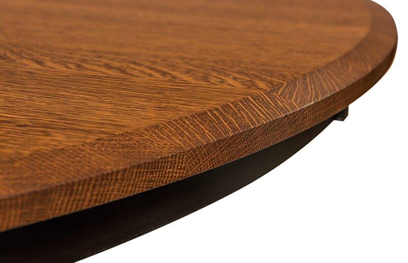 Amish St. Charles Single Pedestal Table