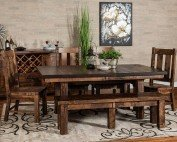 Amish Independence Trestle Dining Room Set