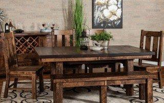 Amish Independence Trestle Dining Room Set
