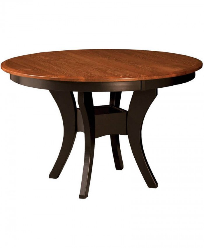 Amish Galveston Single Pedestal Table