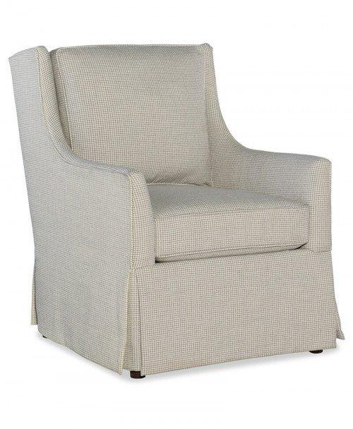 Hand Over Heart Skirted Club Chair
