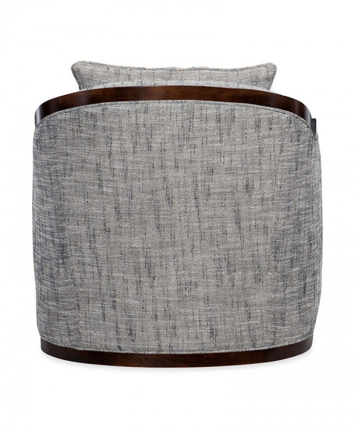 Coco Exposed Wood Swivel Chair