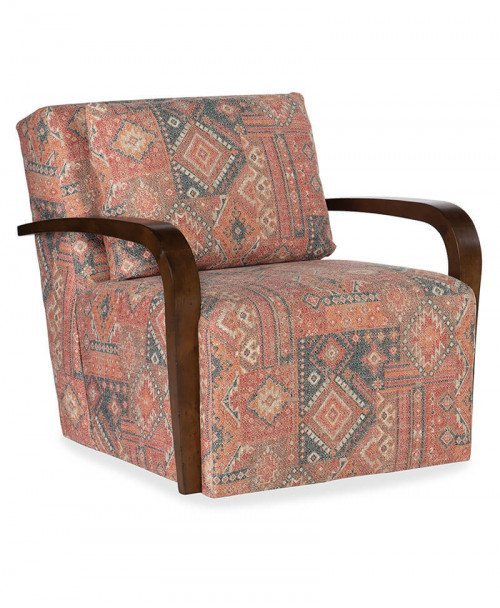 Corley Exposed Wood Swivel Chair