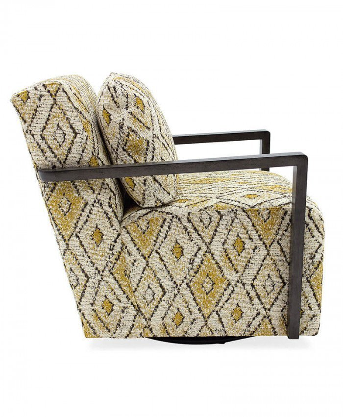 Creighton Exposed Wood Swivel Chair