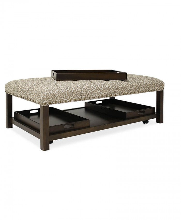 Hollis Rectangle Tufted Tray Ottoman