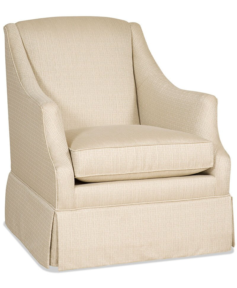 Lark Skirted Swivel Glider