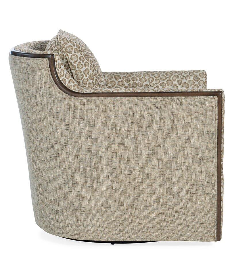 Oakley Exposed Wood Swivel Chair