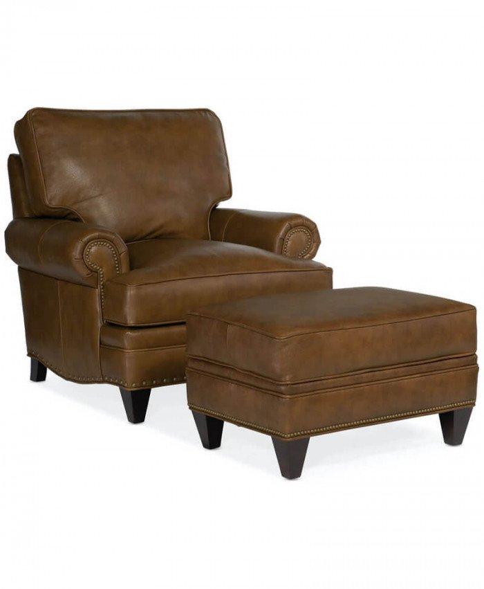 Carrado Stationary Chair and Ottoman